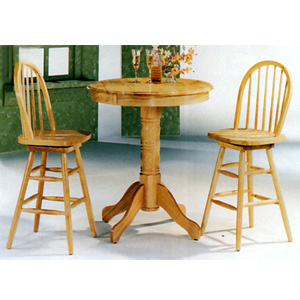 3-Pc Bar Set In Natural Finish 4104/4103(CO)
