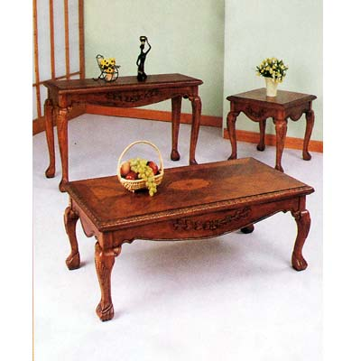 Coffee Table Coffee Table Set 3 Piece Oak Finish 7136 A