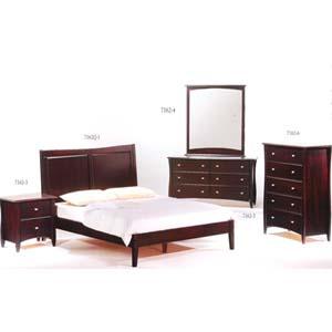 Dark Cherry Queen Bed 7162Q-1(IEM)