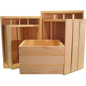 Heavy-duty Unfinished Pine Crate Sets (Pack of 5) (OFS)