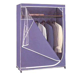 portable closet blue storage closet with top shelf 7404. Black Bedroom Furniture Sets. Home Design Ideas