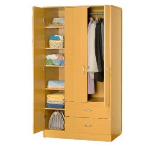 3 Door Wardrobe W 2 Drawers 7803 Abc