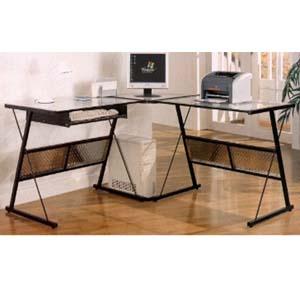 Computer Desk In Black Metal 800201 (CO)