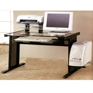 Computer Workstation in Black Finish 800211 (CO)