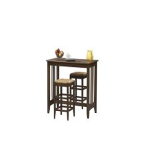 Mission Pub Table Set w/2 Stools 86190C137-01-KD-U(LN)