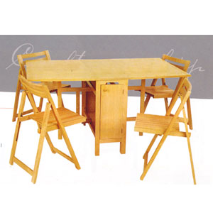 Wonderful 5 Pcs Folding Table And Chairs 901_(LNFS110)