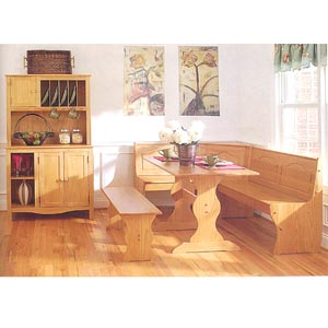Brazilian Pine Corner Kitchen Nook Set 90366N2 SET(LN)