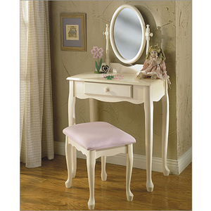 28 In. Childrens Bedroom Vanity Set  929-290(PW)
