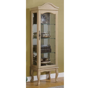 Oak Finish Curio Cabinet 950194(CO)