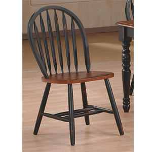 Dining Chairs Antique Black Cherry Arrow Back Chair 9514