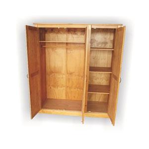 Solid Wood Argo 3 Door Closet ARGO3H(JTCFS)