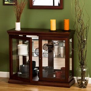 Double Door Curio Cabinet - Mahogany BE0868 (SEIFS)