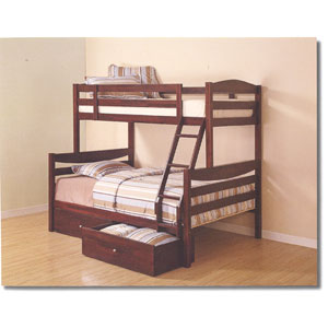 Twin/Double Solid Wood Bunk Bed BWTOD_(WEFS)