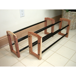 Expandable Stacking Cedar Shoe Rack CDR 8942 (PM)