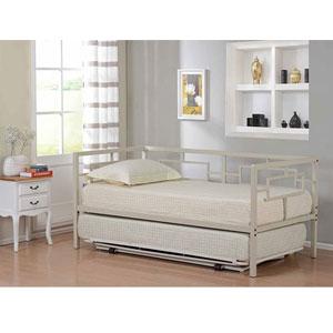 Cream White Metal Twin Size Miami Day Bed DB115(KBFS)