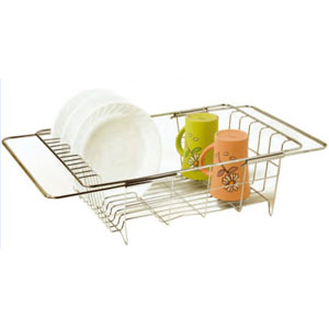 dish drainers expandable over sink dish drainer dd10127. Black Bedroom Furniture Sets. Home Design Ideas
