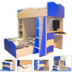 Custom Made Loft  Bunk Bed G-300(VF)