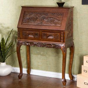 Carved Drop Front Desk HO2422 (SEIFS)