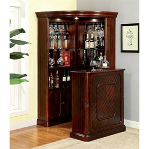 Bar Units 4pc Yorkshire Corner Wine Cabinet With Stand