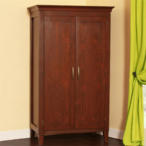 Solid Wood Wardrobe with 2-Panel Doors KG42W(GC)