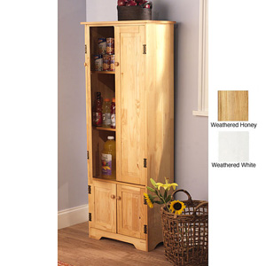 Extra-tall Solid Pine Wood Storage Cabinet 11952129(OFS219)