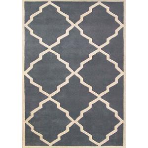 Alliyah Handmade Bluish-Grey New Zealand Blend Wool Rug 1336