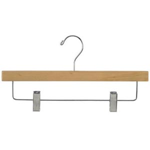 Pant Hanger with Clips in Natural Finish PRD9000 (PM)