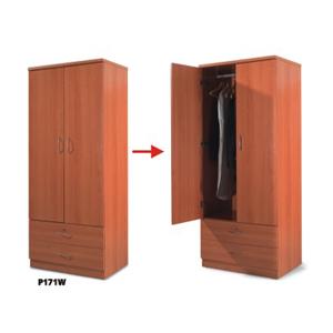 2 Drawer And 2 Doors Closet B171W(PK)