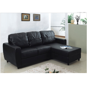 Leather Convertibles L Shaped Convertible Sofa Bed S305BK