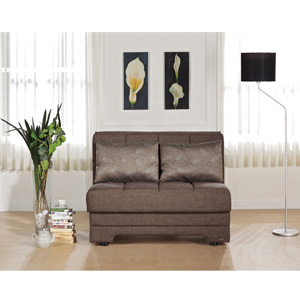 Twist Beyza Astoral Light Brown Loveseat Sleeper (SU)