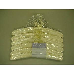 Ivory Virgo Padded Fabric Hanger w/o Pins VGP8861 (PM)