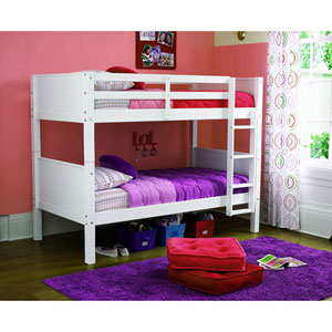 Solid Wood Convertible Twin Bunk Bed WM3556(OFS)