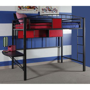 Garage Style Metal Loft Bed WM-14Y2003LB(WFS)