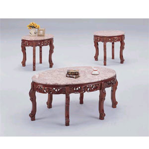 Coffee Table 3 Pc Marble Top Coffee Table Set8290 8291 Itm