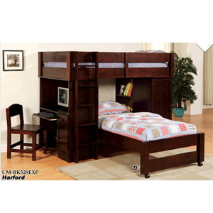 Harford Twin/Twin Junior Loft Bed CM-BK529_(IEM)