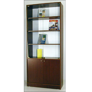 Bookcase With Glass Doors On Top E-70 (VF)