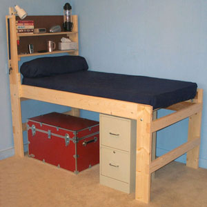 Solid Wood All Sizes Adult High Riser Bed 1000 Lbs Wt. Cap