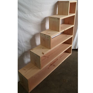Solid Wood Custom Made Adult Stairs For Bunk Or Loft Bed