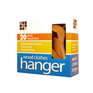 20 PK Natural Wood Hangers WH0104_(HDS7)(Free Shipping)