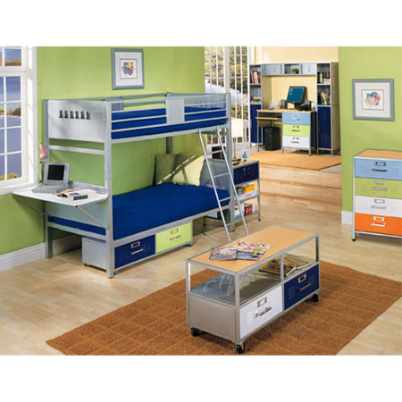 Writing Desks: Locker Style 3 Drawer Desk 38 6704 997 AFA ...